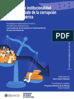 Legislacion e Institucionalidad Para El Combate de La Corrupcion en Centroamerica
