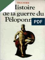 Thucydide Histoire de La Guerre Du Peloponnese