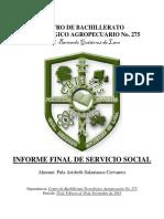 08 - Informe Final de Servicio Social Con Fotos