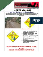 Alerta Vial 001 Ok Paso Por Ssectore en Derumbe
