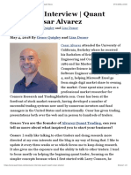Exclusive Interview | Quant Expert Cesar Alvarez | Quant News