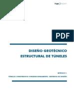 DISEÑO GEOTECNICO ESTRUCTURAL DE TUNELES