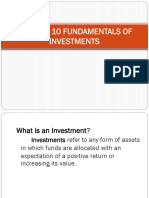 CHAPTER 10 FUNDAMENTALS OF INVESTMENTS