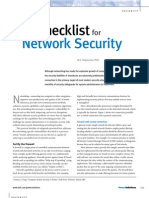 Network Sec Checklist