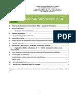 Calendario Academico 2020 Modificado 22 Nov