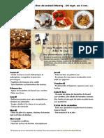 Menu de La Cuisine de Meme Moniq 28 Septembre Au 4 Octobre