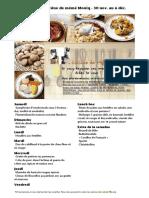 Menu de La Cuisine de Meme Moniq 30 Novembre Au 6 Decembre