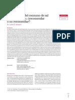 Disminución del consumo de sal en la población