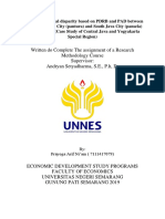 Analisis Ketimpangan Wilayah Berdasarkan PDRB Dan PAD Antara Daerah Pantura Dan Pansela22