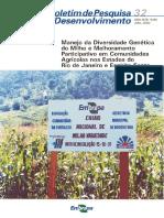 Embrapa - Manejo da diversidade genética do milho e melhoramento participativo em comunidades agrícolas (RJ e ES)