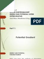KULIAH 7 MEDAN ELEKTROMAGNET ENERGI DAN POTENSIAL LISTRIK SISTEM MUATAN.pptx