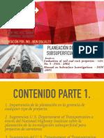Planeación de la investigación Subsuperficial y Método Observacional