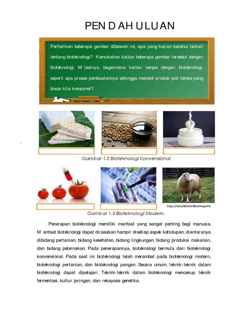 Signifikan Produk Pertanian Berbasis Bioteknologi Konvensional