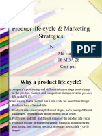 Product Life Cycle & Marketing Strategies