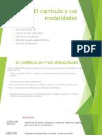 El Currículum y Sus Modalidades