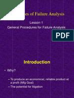 Principles of Failure Analysis