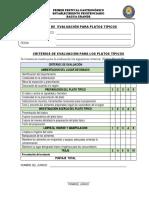 Ficha de Evaluación Para Platos Tipicos