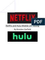netflix - hulu usability testing white paper
