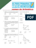 Cuarto Examen de Aritmética Para Cuarto de Primaria