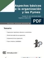 PPT 1 Aspectos básicos de la organización y las Pymes