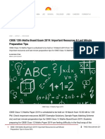 CBSE 12th Maths Board Exam 2019_ Important Resources & Last Minute Preparation Tips to Score 90%