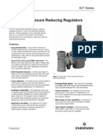 Product Bulletin 627 Series Pressure Reducing Regulators en 126206