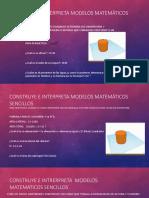 Construye e Interpreta Modelos Matemáticos Sencillos
