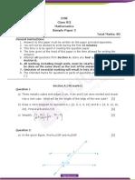 ICSE Class 7 Mathematics Sample Paper Set 2