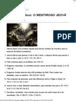 Jeova falso deus_ O MENTIROSO JEOVÁ