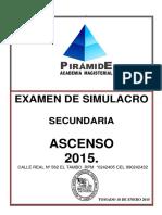 Simulacro 2015 Ascenso de Nivelsecundaria General Sin Clave Final