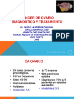 CÁNCER DE OVARIO Diagnóstico y Tratamiento Dr. HERNÁNDEZ 2019