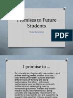 tgonzalez draft promises to future students