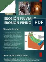 Erosión Fluvial y Erosión Piping