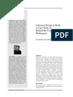 Universal Design at Work
