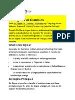 Six Sigma for Dummies-Cheat Sheet