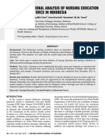 The Situational Analysis of Nursing Education and Workforce In Indonesia