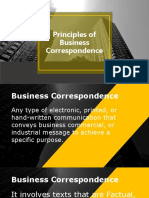 Business-Correspondence principles