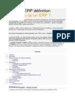 Logiciel ERP Définition
