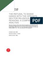 Refusal to shake hand