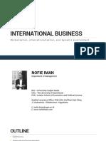 globalisation, internalisation, and dynamic environment