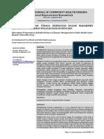 Gambaran Kesiapan Tenaga Kesehatan dalam Manajemen Bencana di Puskesmas Wilayah Rawan Bencana