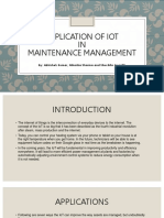 Application of IOt  in maintenaace management
