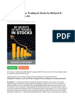 My Secrets of Day Trading in Stocks by Richard d Wyckoff 2014-06-10 PDF 9f52e0b53