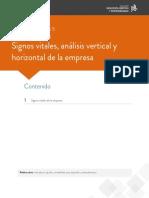 Signos vitales analisis horizontal y vertical de la empresa