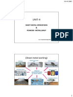 UNIT-4 SHEET METAL AND PM-3