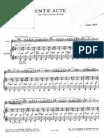 entract arpa e flauto