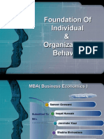 Foundation of Individual OB