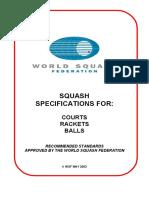 World Squash Federation-Squash Specification