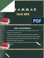 Grammar Quiz Bee