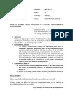 ESCRITO DE DESISTIMIENTO PERU